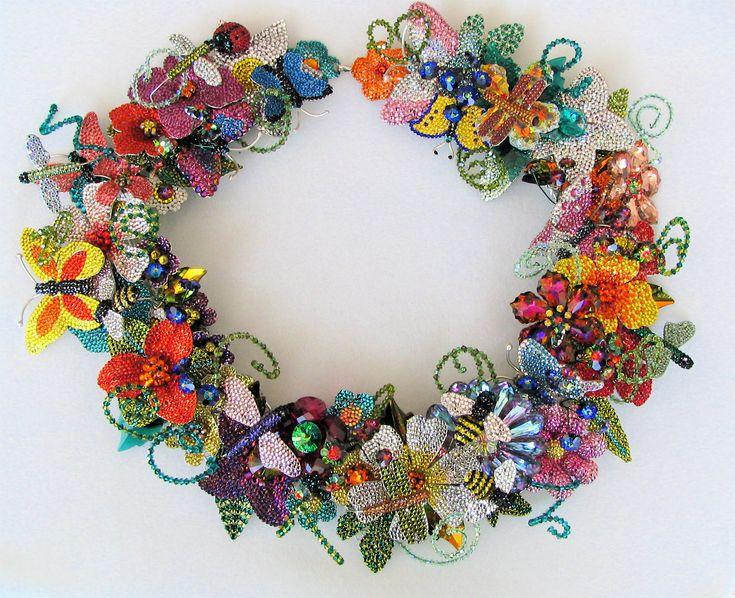 Kathleen Dobkin - not all beads, but all Swarovski crystals.  OMG!