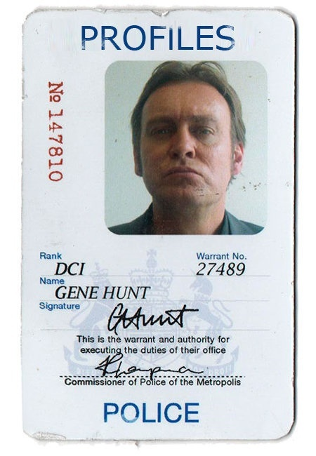 Gene Hunt 1980s warrant card