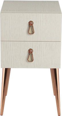 Cantori City Bedside Table Sand And Gold by Heals