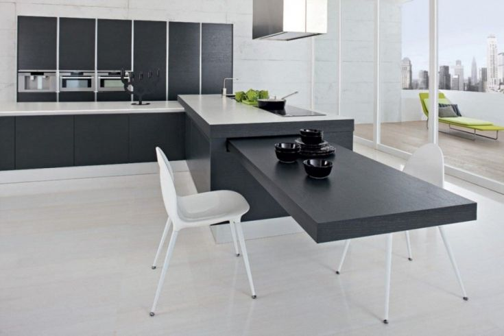Cozy Kitchen Island With Slide Out Table Modern Kitchen Island Modern Kitchen Kitchen Island Table