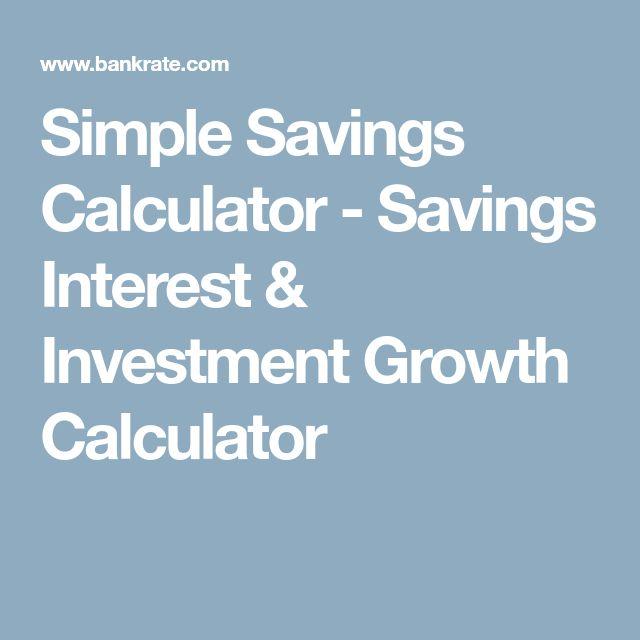 Best 25+ Savings calculator ideas on Pinterest Savings interest - savings account calculator