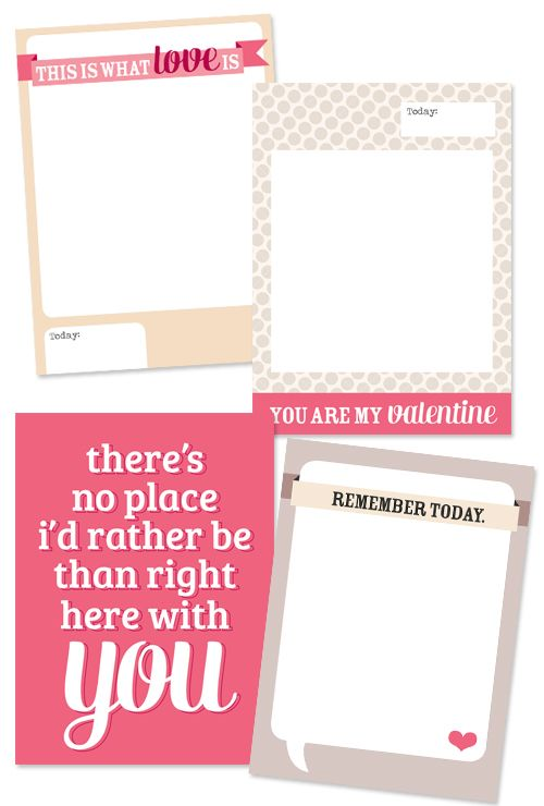 Free Journal cards #ProjectLife #Scrapbooking