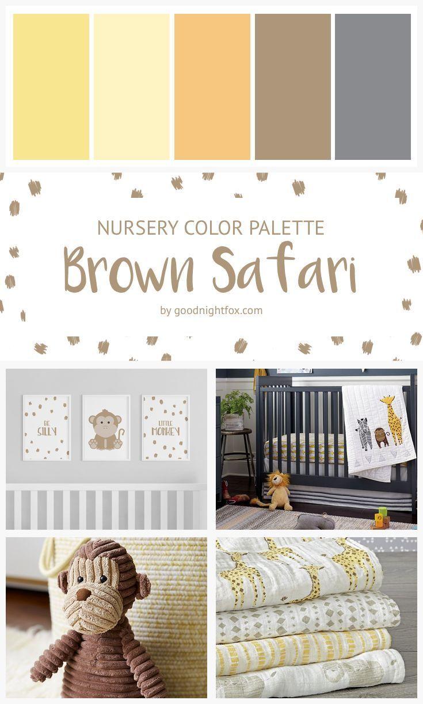 Brown Safari Nursery Color Palette In 2020 Baby Room Colors