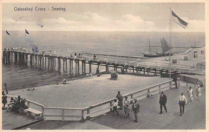 Ostseebad Cranz, Seesteg, Boote Postkarte 1931