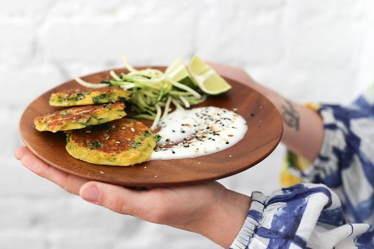 Eleanor Ozich's Haloumi, Spinach and Dill Fritters with Greek Yoghurt Recipe - Viva