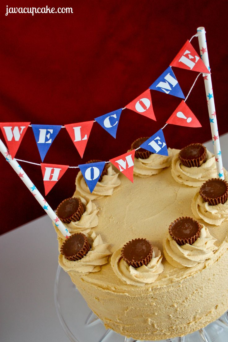 Free Printable: Welcome Home Cake Bunting by JavaCupcake.com