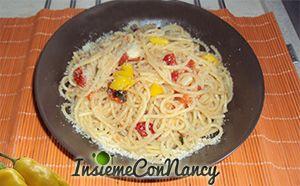 Spaghetti aglio, olio e Habanero cinese giallo