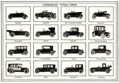 Vintage Fathers Day Clip Art - Old Automobiles - The Graphics Fairy