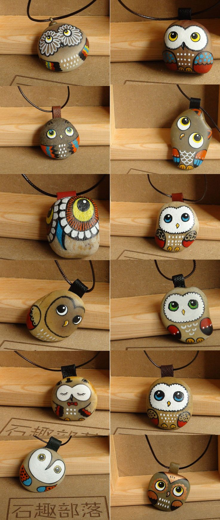 Owl Painted stones -the cutest thing! A definite improvement to the strawberry ones I have seen before