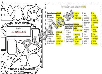 science terminology in spanish Science vocabulary word bank, wordbank enchantedlearningcom is a user-supported site as a bonus, site members have access to a banner-ad-free version of the site, with print-friendly pages.