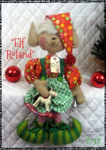 "♥♥ Primitive Raggedy Christmas 16"" ""Elf Roland"" Toy Maker Elf w Ornies ♥♥ | eBay"
