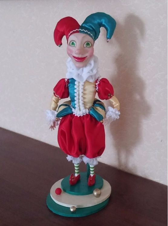 Clown. Клоун. Арлекин. Handmade dolls.