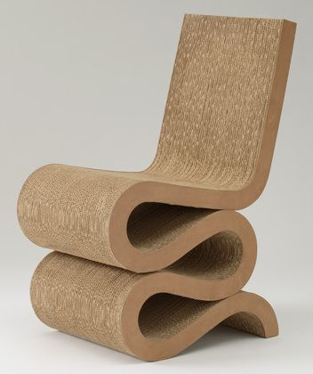 Easy Edges Side Chair, 1972 by Frank O. Gehry (laminated corrugated cardboard, fiberboard)