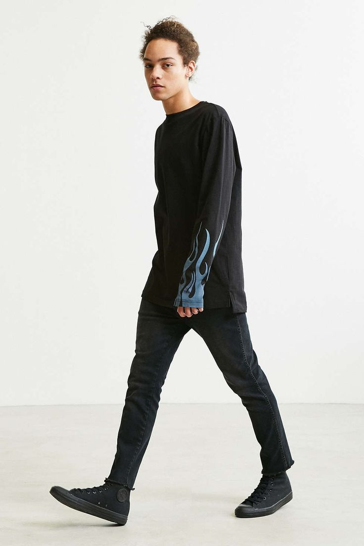 Cheap Monday Flames Long Sleeve Tee - Urban Outfitters