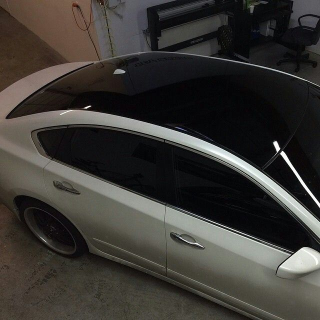 Www Rvinyl Com Window Tint Html 2014 Nissan Maxima In And Out With A Gloss Black Roof