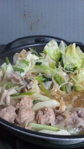 子供が絶賛特製ちゃんこ鍋スープととり団子