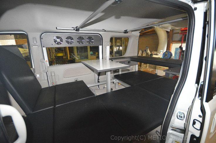 エブリィ 2段棚 テーブル サブバッテリーシステム メティオ エブリィ 軽キャンパー エブリィ カスタム