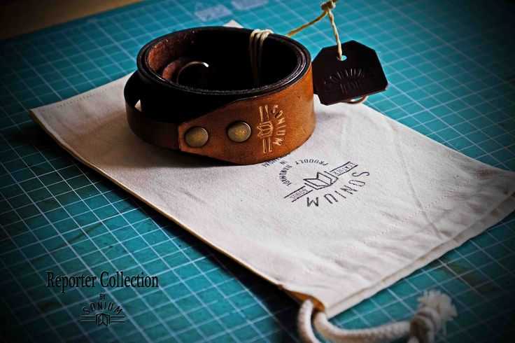 """""""REPORTER COLLECTION"""" by SONIUM LEATHER. Packaging"""