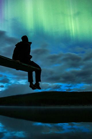 The northern lights. Free front row seat...priceless.