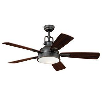 """View the Vaxcel Lighting F0033 Walton 52"""" 5 Blade Indoor Ceiling Fan - Light Kit and Fan Blades Included at LightingDirect.com."""