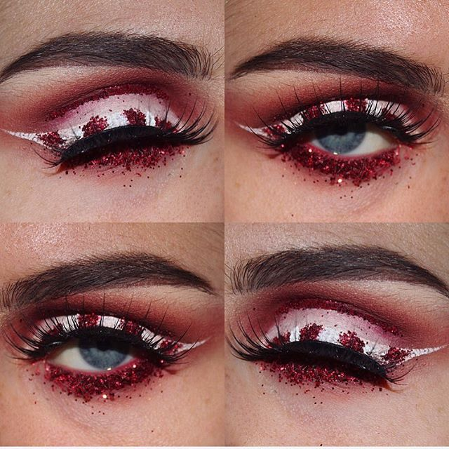 And on the eleventh day... Candy cane game was strong ⚪️🔴⚪️🔴 products used; • @maccosmetics cherry lipliner • @makeupgeekcosmetics creme brûlée and bitten • @sleekmakeup fire blush • @nyxcosmetics white liquid liner • @primalash_lashes in Jasmine (Glitter used was just a generic glitter) #12daysofchristmas #onthe11thdayofchristmas #christmasmakeup #makeupbystephmartistry #makeupartist #promua #scottishmakeupartist #makeup #makeupartistworldwide #makeupartist_worldwide #undiscovered_muas…