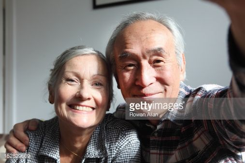 Stock Photo : Couple taking pictures of themselves