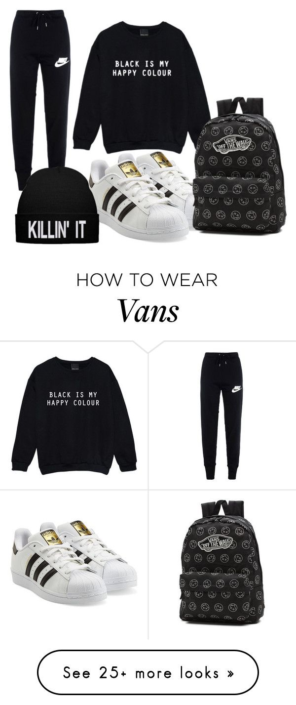 Lazy day by iforindya123 on Polyvore featuring NIKE, adidas Originals and Vans…