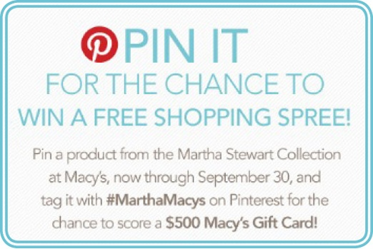 Pin and Win! Get the full scoop at macys.com/marthasweeps #MarthaMacys