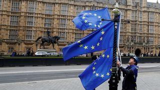 Mann mit EU-Flaggen in London | Bildquelle: REUTERS