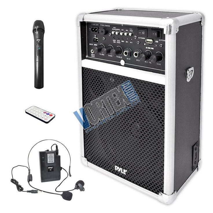 New PYLE PWMA170 Dual Channel 400 W Wireless PA System W/USB/SD/MP3 DJ Speaker