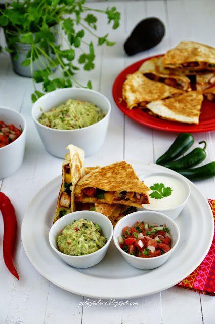 Pełny talerz: Quesadillas z kurczakiem i papryką (Quesadillas de...