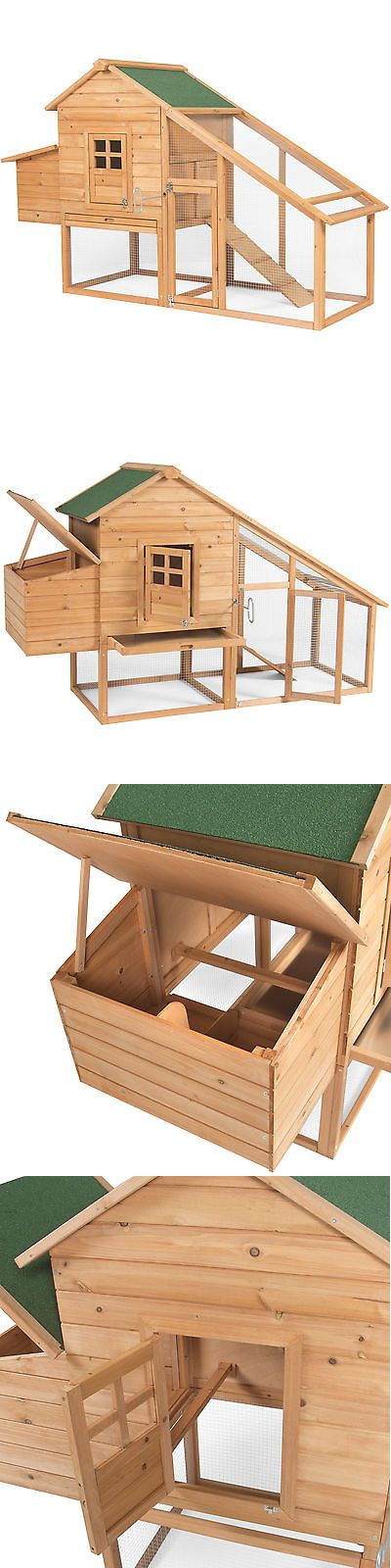 Backyard Poultry Supplies 177801: Bcp 75 Wooden Chicken Coop Backyard Nest Box Wood Hen House Poultry Cage Hutch BUY IT NOW ONLY: $159.95