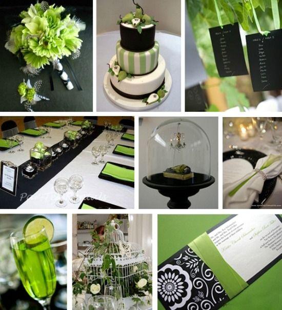 Green and Black Wedding #wedding