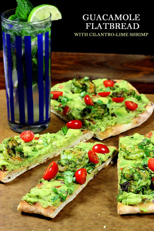 SAVING + MAKING! Grilled Guacamole Flatbread with Cilantro-Lime Shrimp! SO GOOD!