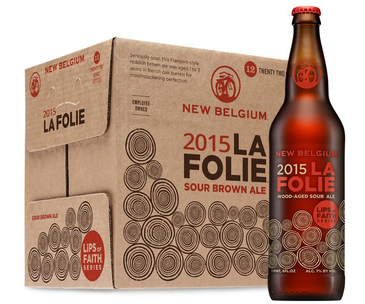 La Folie, French for `the folly,` is a beer steeped in New Belgium brewing tradition. This wood-aged, sour brown spends one to three years in big, oak barrels, known as foeders. And when the beer finally hits the glass, La Folie is sharp and sour, full of green apple, cherry, and plum-skin notes. Pouring a deep mahogany, the mouthfeel will get you puckering while the smooth finish will get you smiling. Not a beer for the timid, La Folie is a sour delight that will turn your tongue on its…