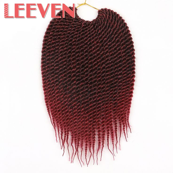 "Leeven Senegalese Twist Crochet Braid Hair Black Ombre Gray 12"" 75G/Pack Synthetic Braiding Hair Extension Kanekalon #Affiliate"