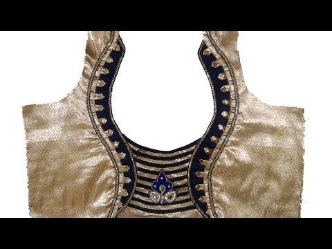 New model blouse back neck design cutting and stitching # Latest blouse # DIY - YouTube