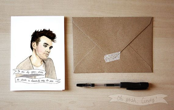 Morrissey greeting card The Smiths Valentines Day by ohgoshCindy – Morrissey Birthday Card