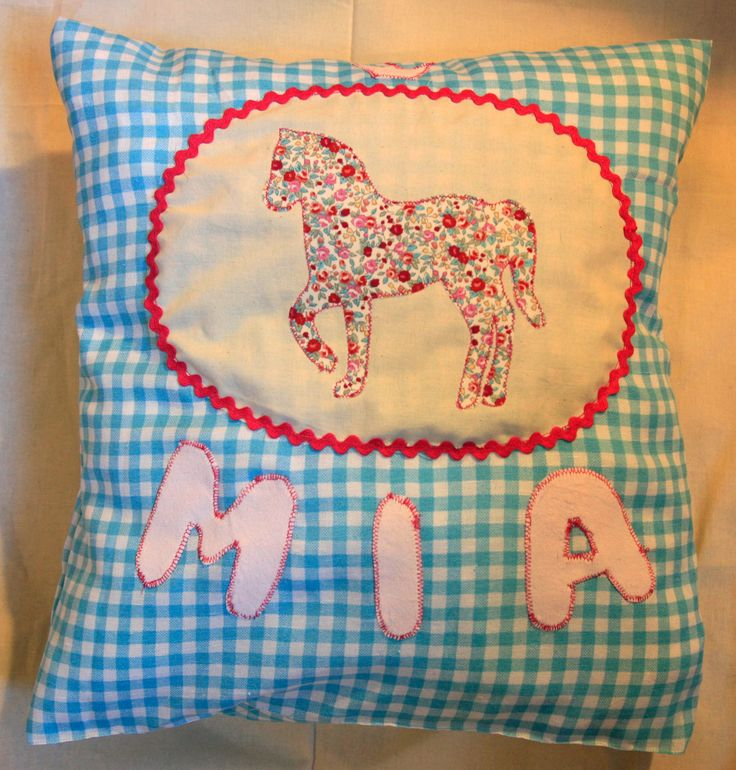 © Anna Galkina. Cushion with applique #kissen #applikation #kids #sewing