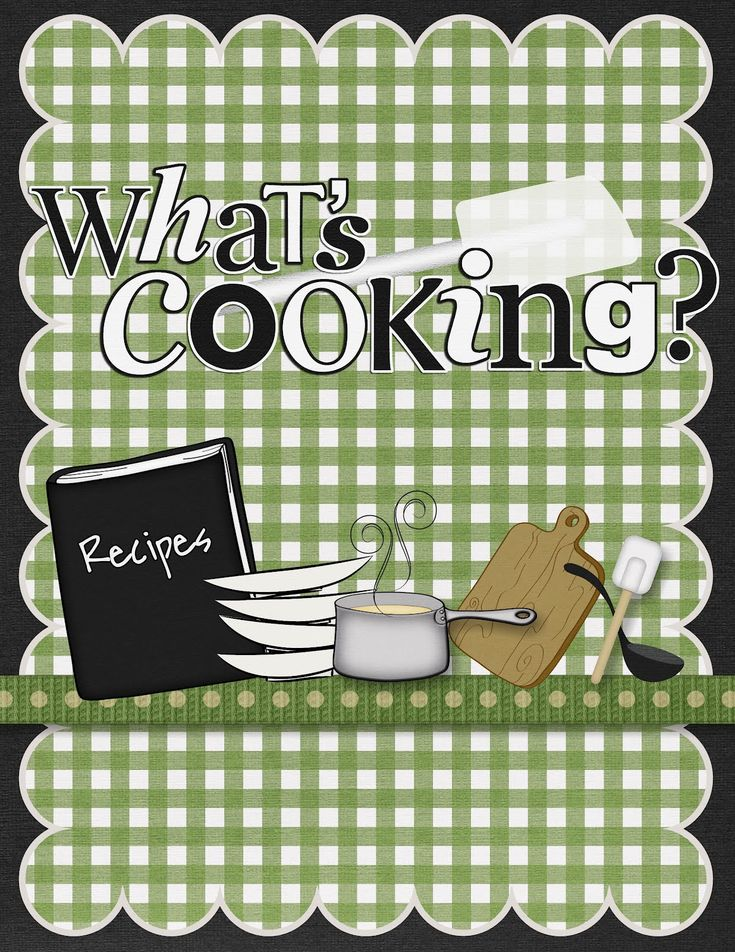 Cook Book Scrapbook Cover. Pin if you like it! :) #books #cookbookcover