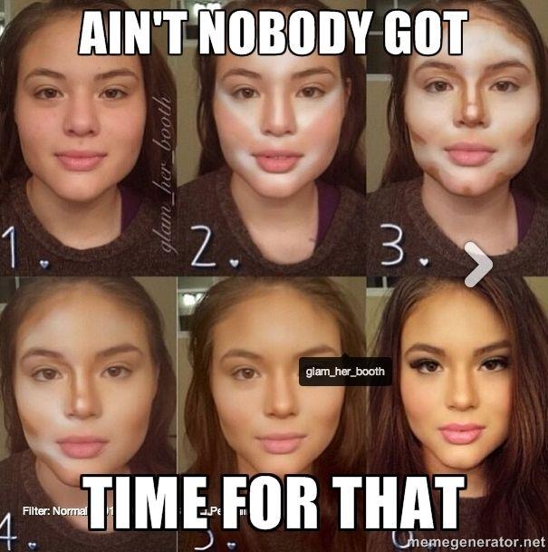 Meme Kiss And Makeup: Too Much Makeup Girl Via Meme Generator