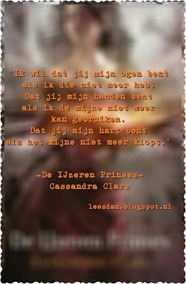De IJzeren Prinses (De Helse Creaties #3) - Cassandra Clare #boekperweek 36/52