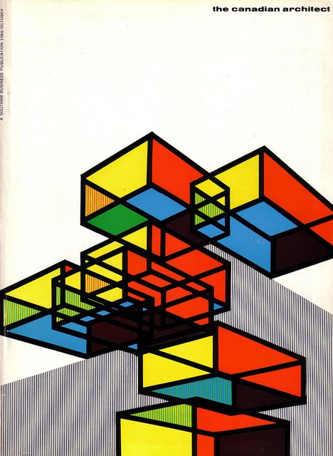 The Canadian architect October 1966 vol. 11 no. 10. Cover design by Laszlo Buday.
