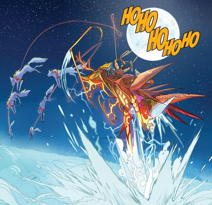 Amazing art from Dan Mora in Klaus and the Witch of Winter.