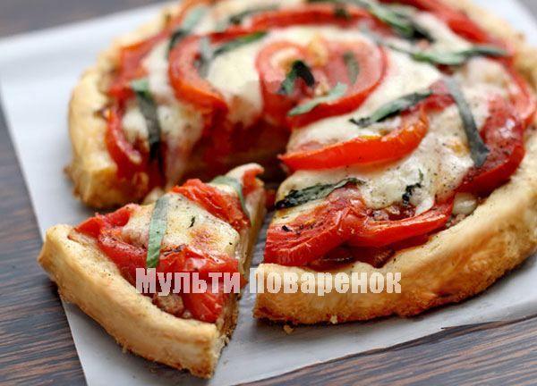 Пирог с помидорами и сыром в мультиварке