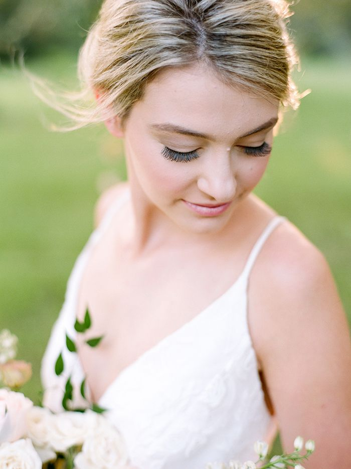 Natural Bridal Makeup that Looks Beautiful on Film  https://heyweddinglady.com/rustic-elopement-peach-summer-blue/    #wedding #weddings #weddingideas #elopement #engaged #bride #bridals #makeup