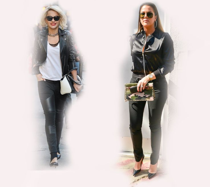 black jacket, Rita Ora VS Khloe Kardashian Odom fashion diva who-wore-it-better celeb celebrity