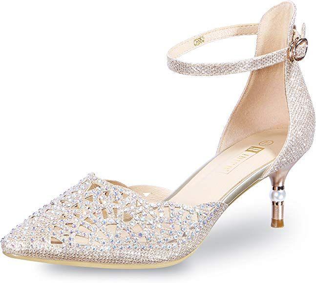 Amazon Com Idifu Women S In2 Candice Wedding Rhinestones Sequins