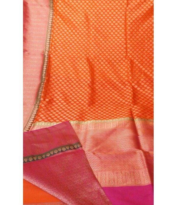 Orange Handloom Banarasi Pure Katan Silk Saree---- For details of this saree click on this link------ http://luxurionworld.com/banarasi-Sarees-varanasi-pure-silk/LWBSSJ502_Orange_handloom_banarasi_Pure_Katan_Silk_Saree.html