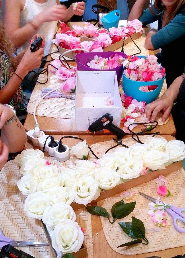 lettre fleurs DIY atelier evjf - LesAteliersDeLaurene